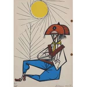ALDEMIR MARTINS<br />Cangaceiro. Litografia 87/180. 20,5 x 15,5 cm. Assinada a lápis no cid. Emoldurada.