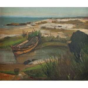 JOSÉ PANCETTI<br />Cabo Frio. Ost, 37 x 44,5 cm. Assinado e datado de 951 no cie.
