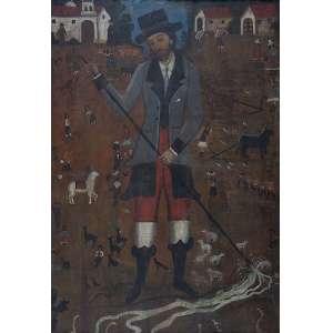 ESCOLA CUSQUENHA (Séc. XVIII)<br />São Gonçalo de Amarante. Ost, 160 x 108 cm.