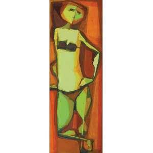 GLÊNIO BIANCHETTI<br />Corista. ASTC placa, 109 x 38 cm. Assinado e datado de 1972 no cid.