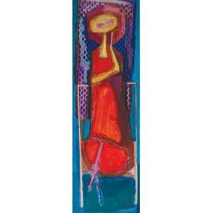 GLÊNIO BIANCHETTI<br />Mulher com sombrinha. Os placa, 117 x 39 cm. Assinado e datado de 1968 no cid.