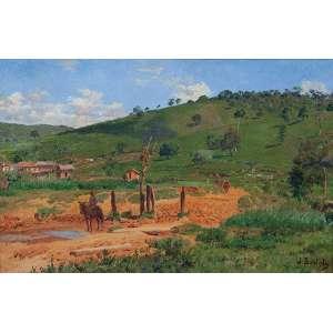 BATISTA DA COSTA<br />Paisagem rural. Ost, 35 x 55 cm. Assinado no cid.