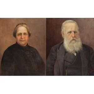 BENEDITO CALIXTO<br />Pendant de quadros. D. Pedro II e Dona Maria Cristina. Ost, 55,5 x 45,5. Assinados e datados de 1891 no cid.