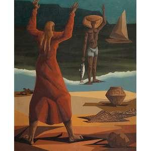 CLÓVIS GRACIANO Pescador. Ost, 80 x 64 cm. Assinado no cie. Déc. de 1960. Coleção Yolanda Ferraz de Camargo.