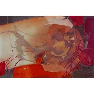 YOLANDA MOHALY Sem título. Técnica mista sobre papel, 74 x 111 cm. Assinado no cid. Ex-coleção Neyde Bonfiglioli.