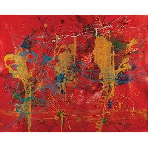 JOSÉ ROBERTO AGUILAR Sem título. Ast, 120 x 150 cm. Assinado, datado de 2017 no cid.