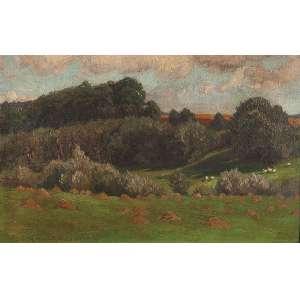 VOLKMANN, Hans Richard Von (1860-1927) Paisagem. Ostcc, 28 x 40 cm. Datado de 1916.