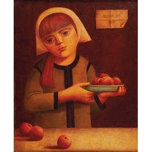 REYNALDO DA FONSECA<br />Camponesa com frutas. Ost, 75 x 60 cm. Assinado e datado de 1967 no csd.