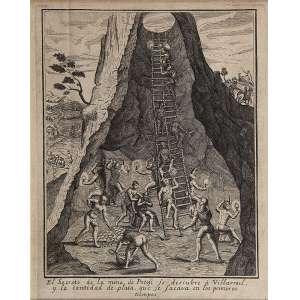 Gravura a metal, com os dizeres El Secreto de la Mina de Potofi... 2 2 x 18 cm.