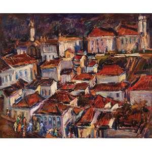 SÉRGIO TELLES <br />Ouro Preto. Ost, 60 x 73 cm. Assinado, situado Ouro Preto e datado 1987 no cie.