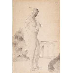 ISMAEL NERY <br />Figura. Desenho a lapis sobre papel, 26 x 17 cm. Assinado no csd. <br />Coleção Brancante.