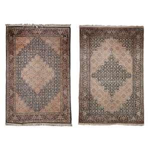 Par de tapetes Tabriz 183 x 153 cm (2,25 m2).