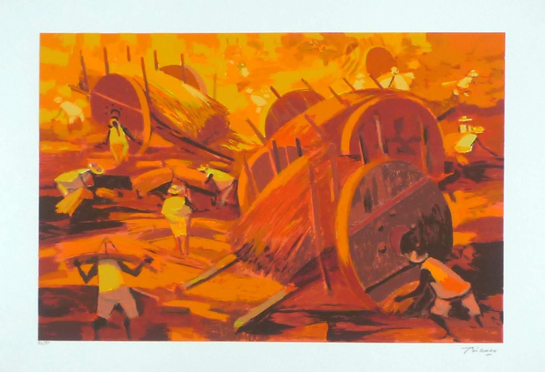 ENRICO BIANCO - Gravura(serigrafia) original, assinada e numerada. Medidas da obra: 50x70cm. Complemento: O artista assinou poucas edições de gravuras e esta edição fez parte de sua última grande exposição .