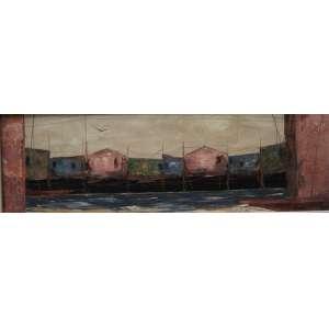 JOSÉ PAULO MOREIRA da FONSECA - ` Vida Seguindo imóvel`, OST / CID - 20 x 60 cm , selo da Galeria Contorno .