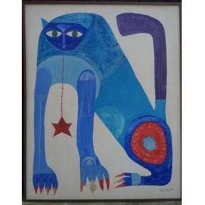 CARLOS PAES VILARÓ - Gato - data 73 - OST / CID 165 x 132 cm