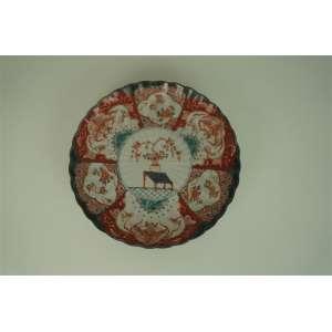 Prato de porcelana com pintura central - 30 cm de diâmetro.