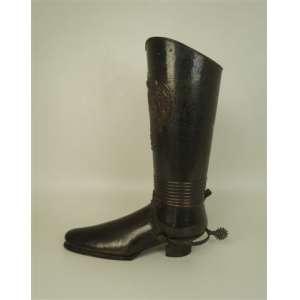 Porta bengalas representando bota da cavalaria - 62 cm de alt