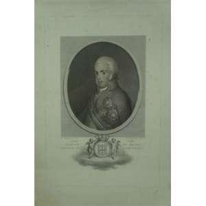 Pellegrini/Bartolozzi D.João Príncipe do Brasil / Regente de Portugal - Gravura 34 x 23 cm. - Ex coleção Sr. João Moreira Garcez.