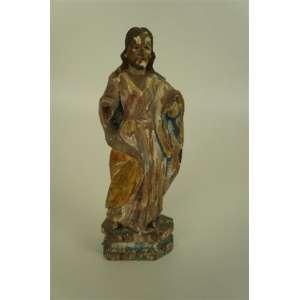 São José em madeira policromada séc XIX - 23 cm de alt.