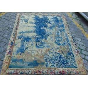 Elegante tapeçaria de manufatura manual ,Aubusson Séc XVIII - 250 X 200 cm.