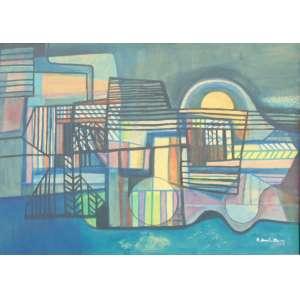 Burle Marx - Abstrato - Panneaux - CID - datado de 1988 - 117 x 164 cm.