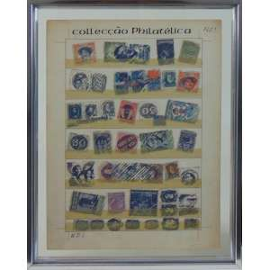 WESLEY DUKE LEE - Cartografia , litografia com intervenção, assinada a lápis e nanquim. CIE - 38 x 28 cm.