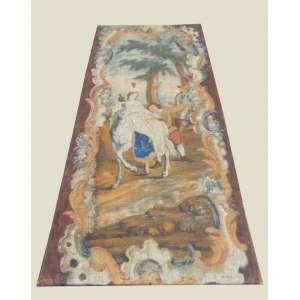 Panô - Cena romântica executada a óleo sobre tela . - 291 x 125 cm.
