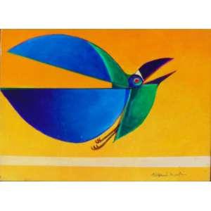 Aldemir Martins – Pássaro - OST / CID - Datado 1971 - 22 x 16 cm.