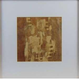 MIRA SCHENDEL - Ecoline sobre papel , Dat 62´- 23 x 23 cm. Coleção Sra. Neide Archanjo .