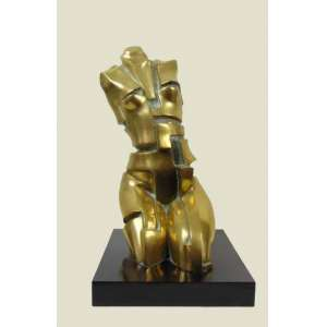 JOSÉ GUERRA - Escultura - 50 cm alt, 20 de comp e 25 de prof.