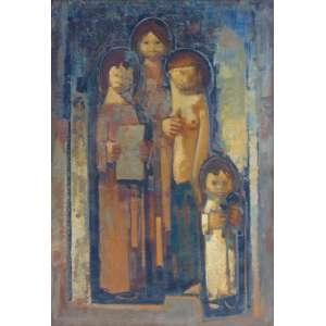Mecatti - Figuras - OST / CIE - Datado 1978 - 95 x 67 cm.