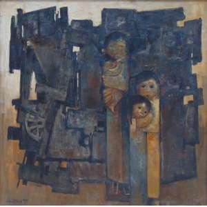 Dario Mecatti - Figuras - OST/CIE - 98 x 98 cm.