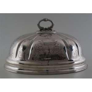 Abafador de metal espessurado a prata - 30 cm de alt, 50 de comp e 36 de prof.