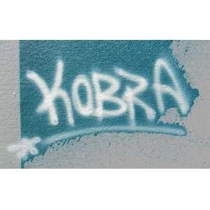 Kobra - United Airlines – óleo sobre tela, 122 x 200 cm, assinado no canto inferior direito - COM RENDA TOTAL DESTINADA A GRAACC.