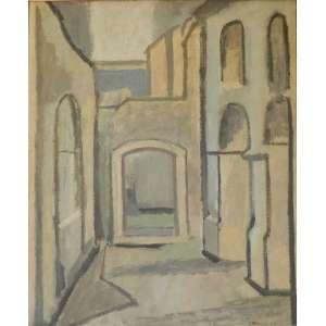 BONADEI,ALDO - o.s.t. Vista de Ouro Preto, datado de 1955, medindo 73 cm por 59 cm. ACID