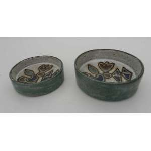 Duas cumbucas de ceramica esmaltada Francisco Brennand.