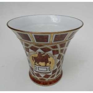 Vaso de porcelana RICHARD GINORI, modelo Piazza del Campidoglio, feito para o jubileu da marca no ano 2000.Itália.