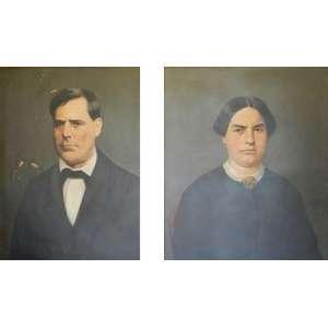 Steward,J.Par de o.s.t. retratando o Barão e a Baronesa de Arari,datados de 1872, medindo 73 cm por 58 cm.