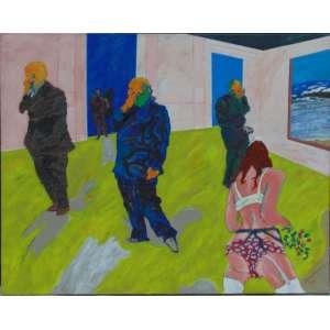 Carlos Gorriarena -Este vacioacrílica sobre tela - 2005 - 150 x 190 cm. Assinado no verso. Obra reproduzida no livro Gorriarena - La Pintura, Un Espacio Vital à pg 164. Acompanha o livro.