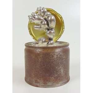 Oscar Oiwa -Bonsai 8Escultura em metal cromado, lata e resina - Assinada e datada 2001 - 10 cm de alt ( em caixa de acrílico )
