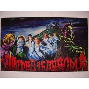 James Jessop - The Brides of Dracula - 155 x 255 cm. Obs: Chassis desmontado e tela enrolada.