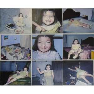 Enrique Marty - Juego de niños Nove pinturas a óleo sobre placas de madeira - Assinada e titulada no verso, não montadas - 60 x 60 cada.