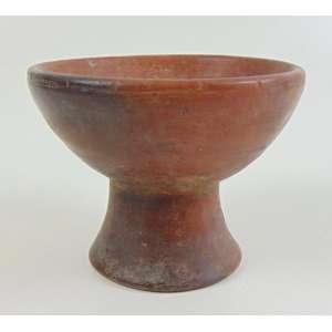 Antigo recipiente em terracota - 11 x 15 cm.