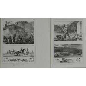 Debret,quatro gravuras de 36 cm X 26 cm, emolduradas junto.