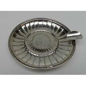 Cinzeiro de prata 833, 11cm de diâmetro.
