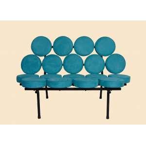 George Nelson - Marshmallow Sofa, design de 1956 - edição - 85 cm de alt, 130 de comp e 65 de prof.