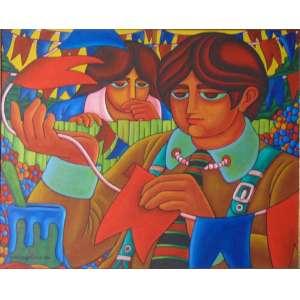 WELLINGTON VIRGOLINO - Preparando a festa junina - OST / CIE - 40 x 50 cm.