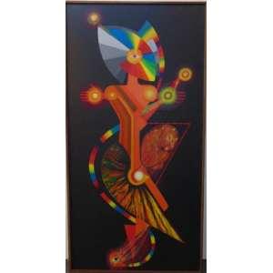 Miguel dos Santos - Maternidade - OST / Assinado no verso - 200 x 100 cm.
