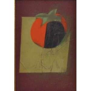 Carlos Scliar - Caqui em eclipse - 1977 - OST colado em eucatex / CID - 27 x 18 cm.