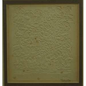 TARSILA do Amaral - Crianças - importante gravura em relevo -P.A - CID - 12 x 11 cm.